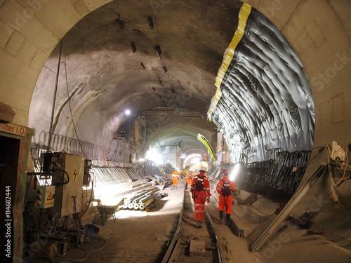 Ceneri-Basistunnel Baustelle, Abdichtung Tableau sur Toile