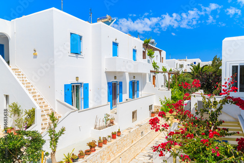 Beautiful Greek Style Holiday Apartments On Street Of Naoussa Village Paros Island Cyclades
