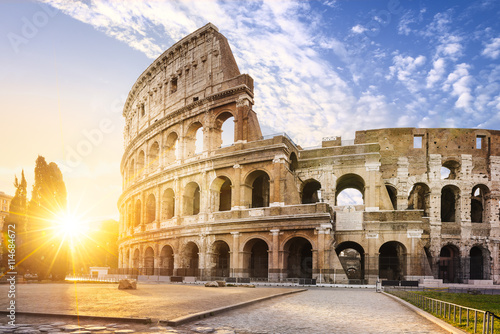 Poster Rome Rome city by sunrise