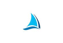 Boat Sail Icon Logo