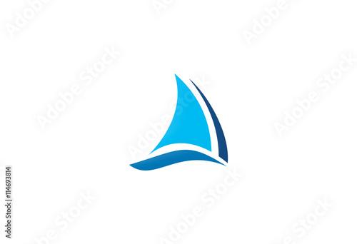 Fotografia  boat sail icon logo