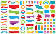 Ribbon Labels Stickers Banners...