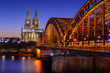 The Cologne Cathedral at sunset