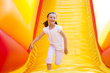 Happy Little Girl Having Lots ...