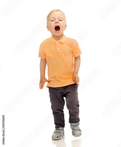 Fotografia, Obraz  happy little boy shouting or sneezing
