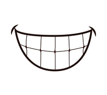 Mouth Concept Represented By Smile Cartoon. Isolated And Flat Illustration