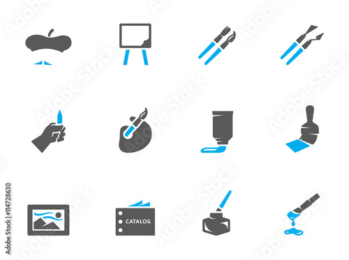 8ca93d9a61048 Artist icons in duo tone colors. - Buy this stock vector and explore ...