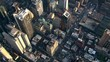 High flight over New York City. Shot in 2003.