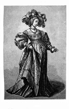 XVI Century ,portrait Of A La...