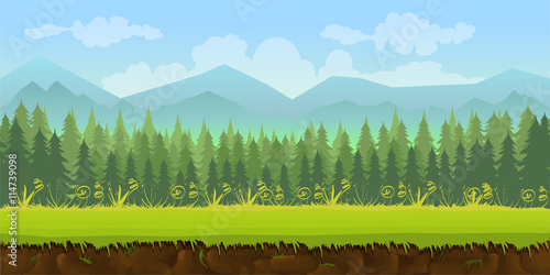 forest game background 2d application плакат
