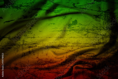 Fotografie, Obraz  grunge background reggae colors green, yellow, red