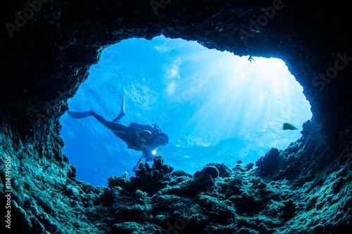 Fotografia Cave diving