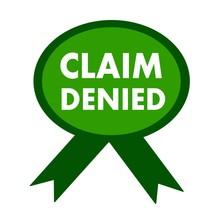 Claim Denied White Wording On ...