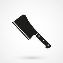 Meat Cleaver Knife Icon
