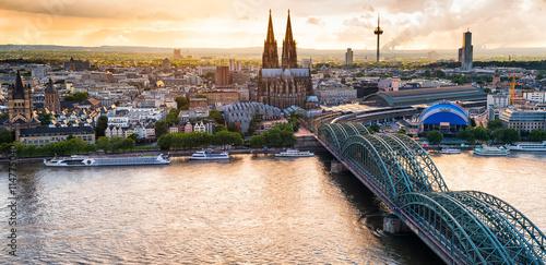 Fotomural  Köln Panorama