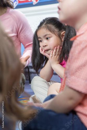 Fototapeta Listening During Storytime obraz na płótnie