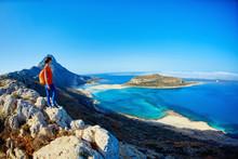 Panoramic View On Balos Beach,...