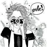 Fototapeta Młodzieżowe - cute cartoon girl