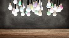 Plusieurs Ampoules Colorées S...