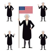 Set Of Washington Flat Icons