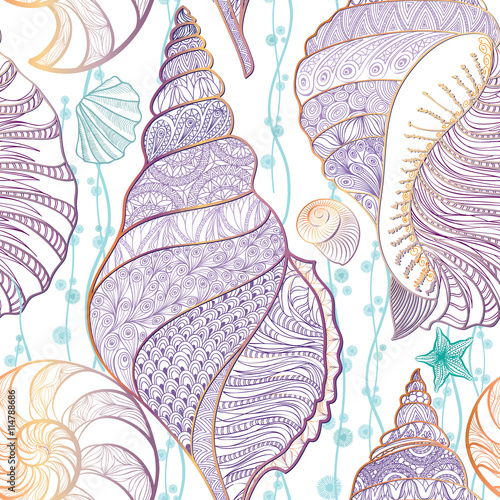seashell-bez-szwu-wzor-podwodne-morze-kafelkami-w-tle-lato-zycia-morskiego-ornament
