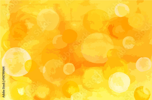 Abstract artistic golden yellow watercolor background texture wi