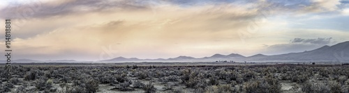 Garden Poster Gray Sunrise in Nevada desert panorama
