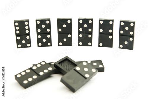 Obraz na plátně different dominoes chips