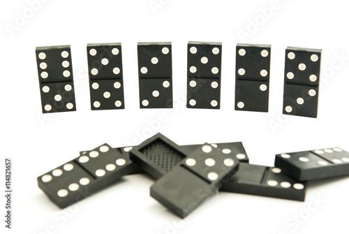 Obraz na plátně dominoes chips on white