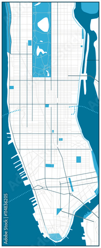 Manhattan blank road map   Buy this stock vector and explore