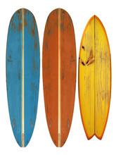 Vintage Surfboard Isolated On ...
