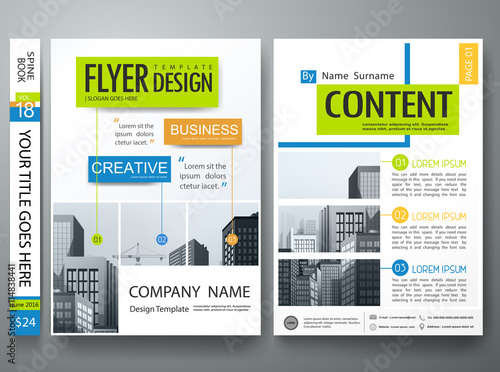 flyers design template vector city design on a4 brochure layout