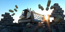 3D Illustration Of Excavator C...