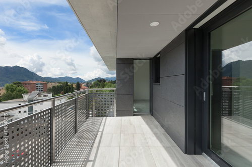 balcony of a building Canvas Print