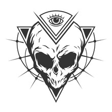 The Skull Is An Alien And All-seeing Eye.
