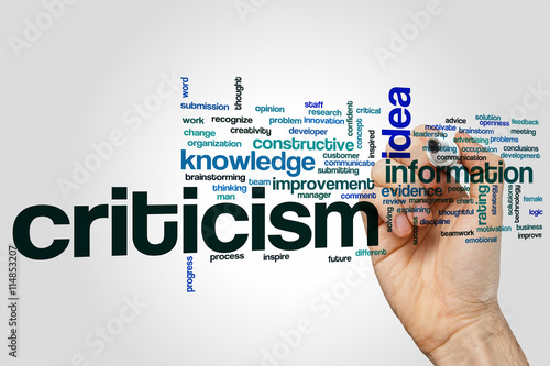 Criticism  word cloud Wallpaper Mural