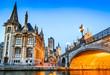 canvas print picture - Gent, Flanders, Belgium.