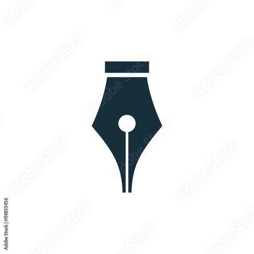 pen nib icon on white background Wallpaper Mural