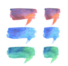 Bubble Talk Watercolor Abstract Background. Hand Drawn Illustrat