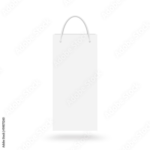 Blank wine paper bag mock up isolated. White clear magazine packet ...