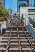 Angel's Flight Railway System In Downtown Los Angeles, California.
