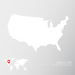 Vector map of USA with world map infographic style.