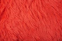 Artificial Red Fur Texture Cloth