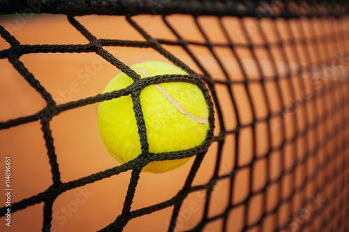Tennis balle qui frappe le net Tableau sur Toile