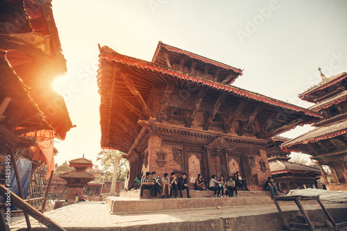 Spoed Foto op Canvas Nepal Building at Durbar Square, Kathmandu