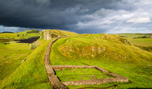 Hadrian's Wall In The County Of Northumberland, England