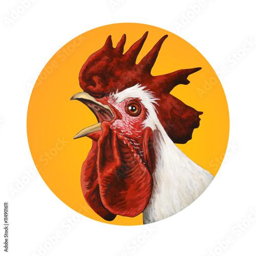 Fotografie, Obraz Handcrafted rooster portrait
