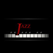 Jazz cafe concept. Abstract piano keyboard. Musical creative invitation.