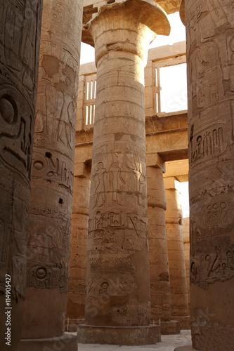 In de dag Egypte Die Tempel von Karnak in Ägypten