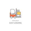 Cargo loader logotype design